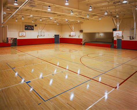 tiles look like wooden floors basketball court