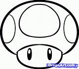 Mario Mushroom Draw Magic Brothers Step Drawing Super Coloring Pages Drawings Bros Mushrooms Dragoart Simple Easy Characters Party Tattoo Stuff sketch template