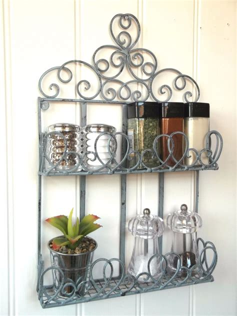 Kitchen Metal Wall Uk by Vintage Style Metal Wall Shelf Unit Storage Unit Kitchen