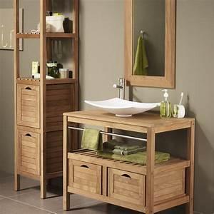 Acheter Meuble En Palette Bois : meuble bois salle de bain leroy merlin d co pinterest ~ Premium-room.com Idées de Décoration
