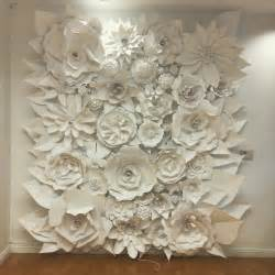 who said it bridal shower 3d paper flower wall collection and sculptures