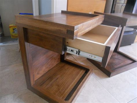 c shaped nightstand crafted c shaped nightstand with drawer by