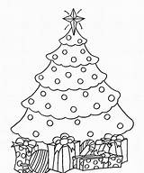 Coloring Tree Christmas Fir Pages Printable Drawing Print Getcolorings Colorin sketch template