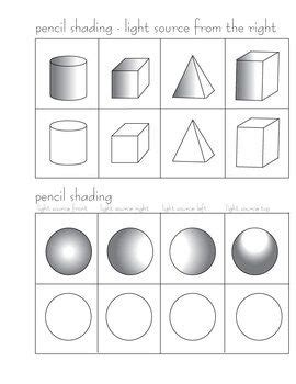 pencil shading activity arts and crafts