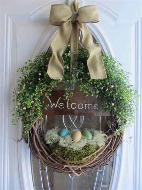 easter door wreaths door wreath easter wreath welcome wreath