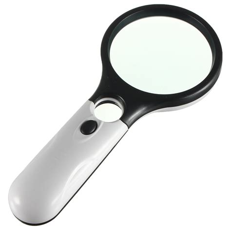 small magnifying glass with light 3 led reading magnifying glass light 45x handheld
