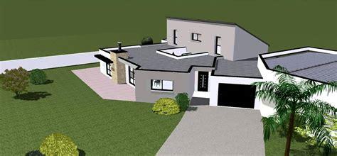 maison contemporaine avec patio int 233 rieur maison r 233 alis 233 e 224 plaudren 56400