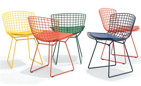 bertoia chaise bertoia side chair with seat cushion hivemodern com