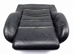 Rh Front Black Leather Seat Cushion 00