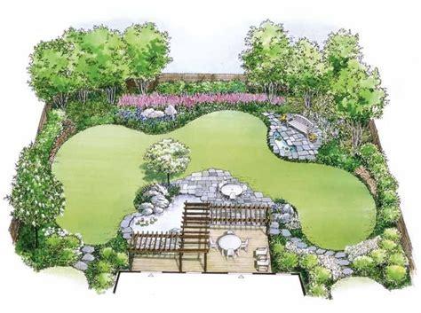 eplans landscape plan water garden landscape  eplans