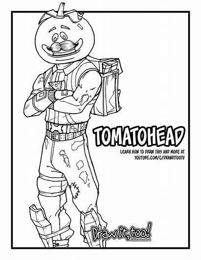 Fortnite Tomatohead Draw Drawing Royale Battle Drawittoo