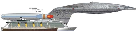 titanic scale to modern ships uss enterprise vs oasis of the seas modern cruise ship vs the titanic starfleet academy