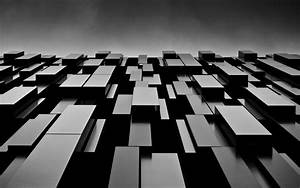Abstract black blocks shapes monochrome modern