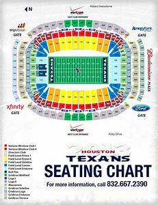 Interactive Seating Map Nrg Stadium