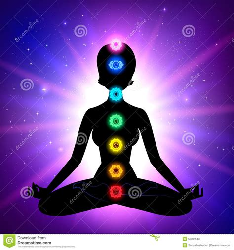 Light Green Aura by Chakras Meditation Stock Vector Image Of Healing Female
