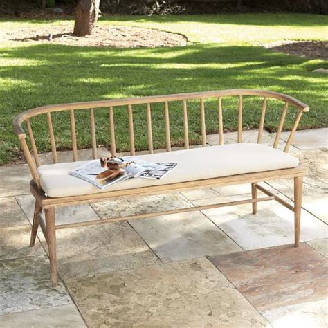 outdoor bench cushion west elm