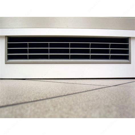 grille de ventilation murale ventilation grid satin nickel 367 mm x 79 mm richelieu hardware