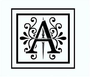 free printable monogram letter stencils template With monogram letter stencils free