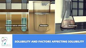 Solubility And Factors Affecting Solubility