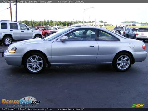 2003 acura cl 3 2 type s satin silver metallic ebony