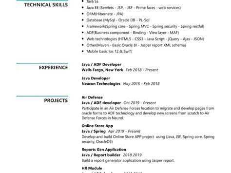 java developer resume sample writing tips  resumekraft