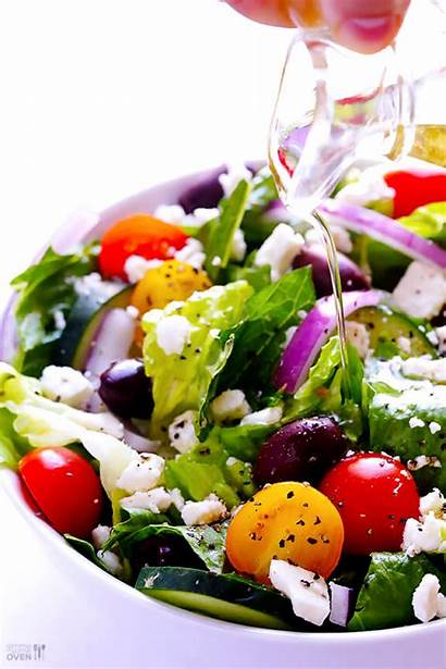 Salad Greek Garlic Lemon Vinaigrette Recipes Recipe