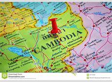 KambodschaKarte stockbild Bild von land, makro, tourist