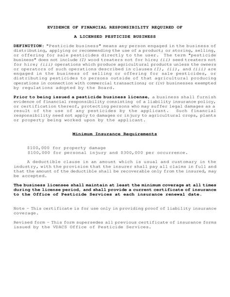 certificate  insurance form virginia
