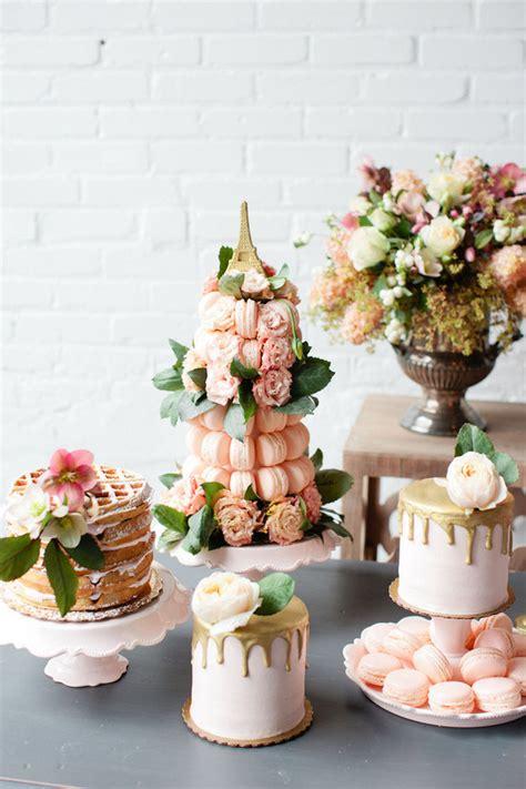 parisian brunch wedding inspiration  layer cake