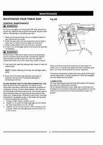 Page 20 Of Craftsman Saw 137 248830 User Guide