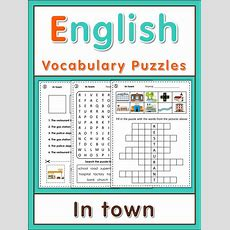 Esl Vocabulary Puzzles Places In Town  Literacy  Esl, Word Search Puzzles, Vocabulary