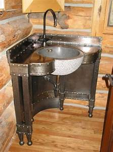 Meuble Salle De Bain Style Industriel : meuble de salle de bain d 39 angle une vasque style n o industriel original meubles fabriquer ~ Melissatoandfro.com Idées de Décoration