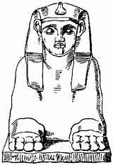 Coloring Egyptian Sculpture Printable Sculptures Colorear Para Escultura Dibujos Egipcia Imagen Cartoons sketch template