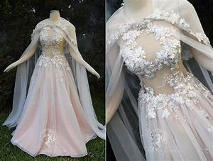 peach petal gown by firefly path on deviantart With legend of zelda wedding dress