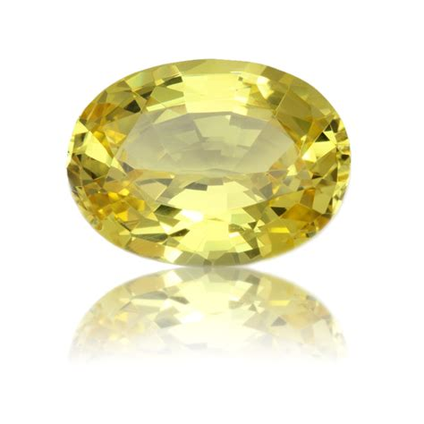 Yellow Safire yellow sapphire oval 5 83ct king gems