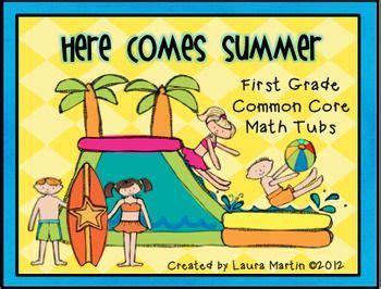 First Grade Math Centerssummer  First Grade Math, Math Tubs And Summer