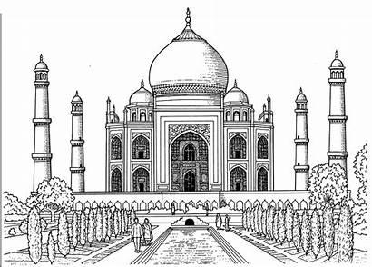 Taj Mahal Coloring Pages Printable Adult Popsugar