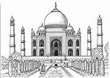 Coloring Taj Mahal Pages Printable Adult Popsugar sketch template