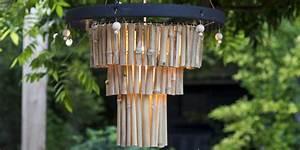 Fabriquer Un Carillon : fabriquer une suspension lumineuse en bambou pour le jardin marie claire ~ Melissatoandfro.com Idées de Décoration