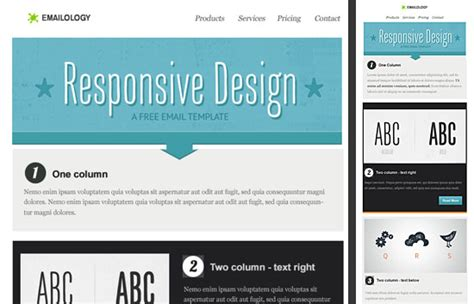 responsive email template responsive email design