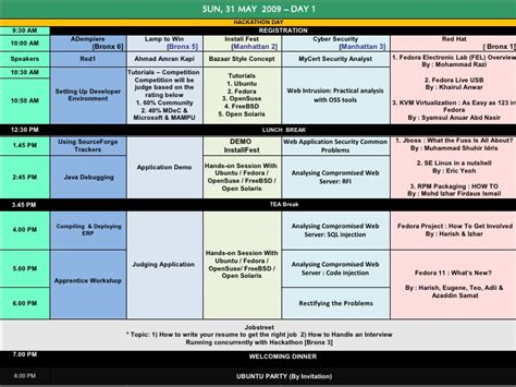 msc to schedule msc malaysia open source 2009 schedule