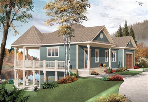 Country Style House Plan 76332 with 3 Bed 2 Bath 2 Car