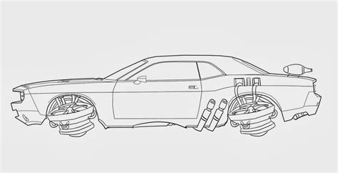 car drawing aiden mockridge ba game art december 2013