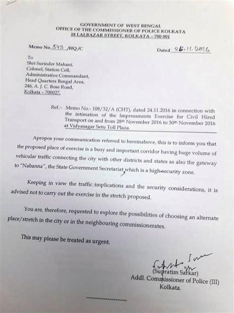 kolkata polices letter backs armys claim  west