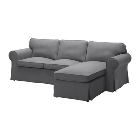 ektorp cover two seat sofa w chaise longue nordvalla grey ikea