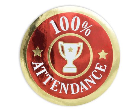 Image result for 100% attendance sticker
