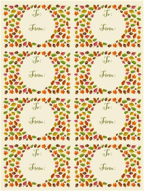 autumn leaf themed   gift tag labels label
