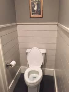 Shiplap Walls with Half Bathrooms