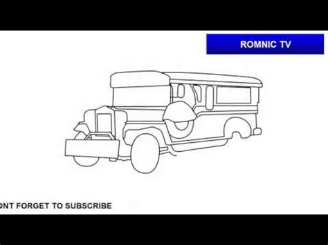 jeep philippines drawing how to draw jeepney of the philippines youtube
