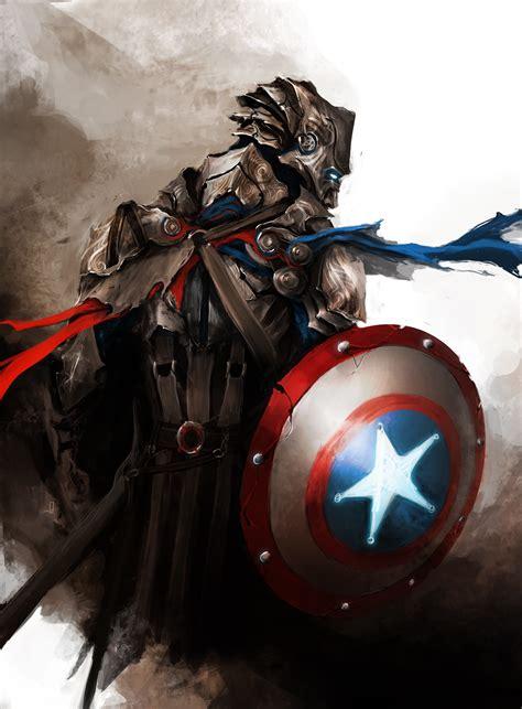 captain america fantasy art  avengers guild wars